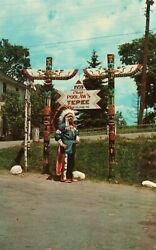 Penobscot Tribe Indian Chief Old Town Me 1973 Vintage Postcard