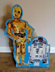 Rare Original 1983 Star Wars R2-d2 And Cp3o Cardboard Standee Approx. 30 By 21