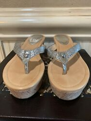 COACH Jorgina Wedge Sandal Tall Cork Model# F2370L11 Size 8B