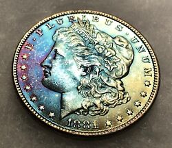 Silver Morgan Naturally Toned Hot Colors Genuine Authentic Silver Coin Rare