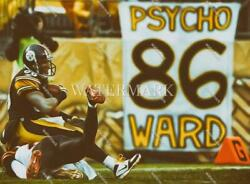 Dx218 Hines Ward Pittsburgh Steelers Pose 8x10 11x14 16x20 Oil Painting Photo
