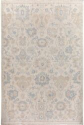 Geometric Floral Oushak Muted Oriental Area Rug Classic Turkish Hand-made 10x14