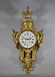 Grande Cartel / Large Napoleon Iii French Cartel Clock In Louis Xv And Xvi Style