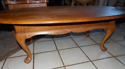 Mid Century Solid Oak Oval Coffee Table By Mersman Ct224