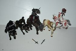 Schleich Medieval Knights Weapons Fantasy Papo 3 Headed Dog Warrior Lot 9 Figure