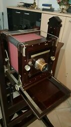 Mahogany Wooden Wood Camera Museum Piece - Perfect Condition Age 1890