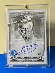 Bo Bichette 2020 Topps Gypsy Queen Black And White Autograph Rookie 30/50 Ssp Jays