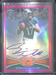 2012 Topps Chrome Pink Refractor Rookie Autograph 109 Ryan Tannehill 38 Of 75