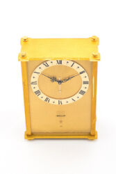 Jaeger Table Music Alarm Clock 8 Days Movement 60's Melody From La Traviata