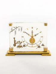 Jaeger Lecoultre 8-days Inline Table Desk Clock Marina Asian Style