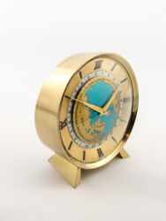 Fine Imhof Table Desk Clock With 8 Days Worldtime 24h Scale