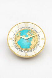 Fine Imhof Table Desk Clock With 8 Days Worldtime 24h Scale.