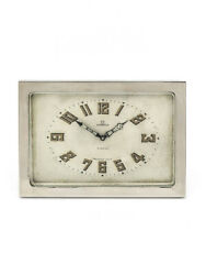 Fine And One-of-a-kind Omega Table Clock 8-days Pure Art Deco Design 20's