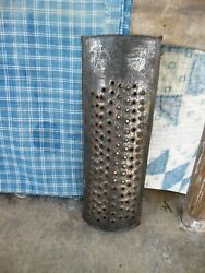 Early Antique Tin Handpunched Nutmeg Spice Grater Make-do