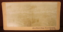 Stereoview Stereograph Pickett's Charge Gettysburg Photography Civil War Antique