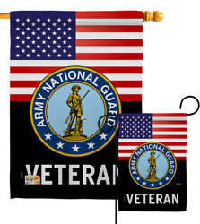 Us Army National Guard Veteran Garden Flag Armed Forces Decorative House Banner