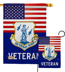 Us Air National Guard Veteran Garden Flag Armed Forces Decorative House Banner