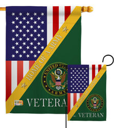 Home Of Army Garden Flag Armed Forces Small Decorative Gift Yard House Banner