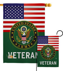 Us Army Veteran Garden Flag Armed Forces Decorative Gift Yard House Banner