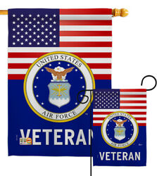 Us Air Force Veteran Garden Flag Armed Forces Decorative Gift Yard House Banner