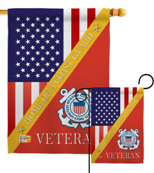 Home Of Coast Guard Garden Flag Armed Forces Decorative Gift Yard House Banner