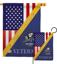Home Of Seabees Garden Flag Armed Forces Navy Decorative Gift Yard House Banner