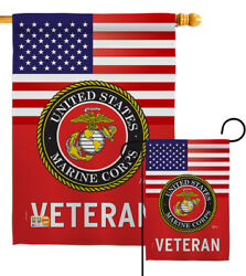 Us Marine Corps Veteran Garden Flag Armed Forces Decorative Yard House Banner
