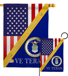 Home Air Force Garden Flag Armed Forces Small Decorative Gift Yard House Banner