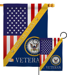Home Of Navy Garden Flag Armed Forces Small Decorative Gift Yard House Banner