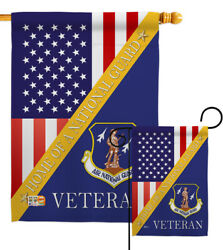 Home Of Air National Guard Garden Flag Armed Forces Decorative Yard House Banner