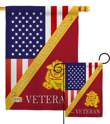 Home Of Usmc Garden Flag Armed Forces Marine Corps Decorative Yard House Banner