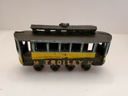 Vintage Cast Iron Trolley Car Old Toys Old Cast Iron Toys Trolley Car