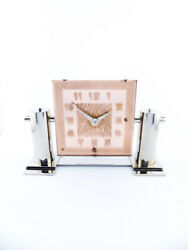 Beautiful Leon Hatot Ato Table Desk Clock Made In The 30andacutes.