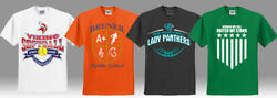 Lot Of 144 Custom Screen Printed Tees - Up To Three Color Imprint- 6.50 Each