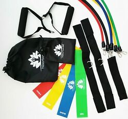 Resistance Band Set 12 Pcs + 4 Pcs Gift Abs Latex Fitness Training Workout Tubes