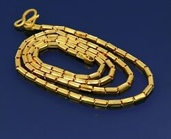 22kt Yellow Gold Fabulous Baht Chain Necklace Unisex Awesome Royal Jewelry India
