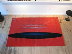 Vintage Modernist Wool Rug By Meinecke Collection Exclusively For Herman Miller
