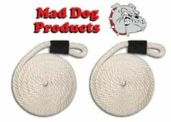 Mad Dog White Fender Line - 5/8 X 8and039 - Sold In Pairs - Made In The Usa