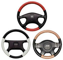 Eurotone 2 Color Leather Steering Wheel Cover For Land Rover Vehicles Wheelskins