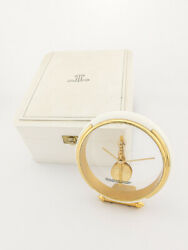 Super Rare Jaeger Lecoultre 8-day Inline Table Desk Clock With Box