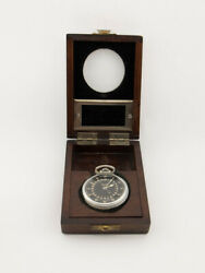 Elgin Navigation Master Watch Gct Us Air Force Wwii Wooden Box
