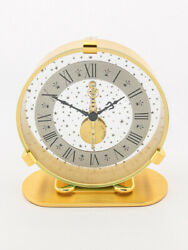 Jaeger Lecoultre 8 Days Inline Table Desk Clock 1967 Star Dial
