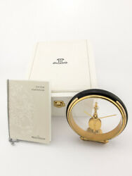 Super Rare Jaeger Lecoultre 8 Days Inline Movement Table Desk Clock 90and039s