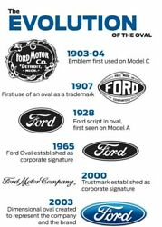 Ford Logo History Evolution Wall Poster 24 X 36 Inch Vintage Retro Promo Poster