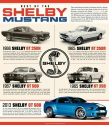 Ford Mustang Shelby Wall Poster 24 X 36 Inch Vintage Retro Promo Poster 2