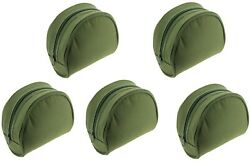 2-5pc Xnew Padded Green Reel Cases Bag For Carp Pike Fishing Tackle
