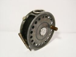 Vintage Antique Hardy St George 3 3/4 Fly Fishing Reel - 3 Screw Latch