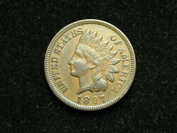 Blow Out Sale Xf 1897 Indian Head Cent Penny W/ Diamonds And Full Liberty 35b