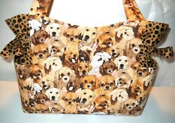 Puppy Dog Fur Babies Handmade PurseToteHandbag $32.99