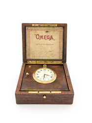 Extra Fine And One -of-a-kind Omega Table Clock Chronometer 1940's.